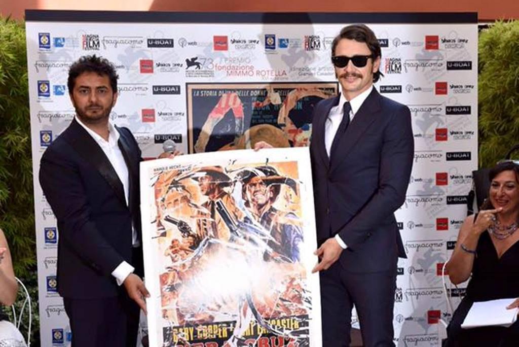 Gianvito Casadonte con James Franco