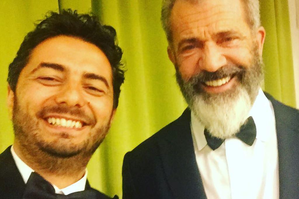 Gianvito Casadonte con Mel Gibson