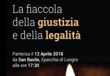 Calabria Fiaccola della giustizia e della legalità