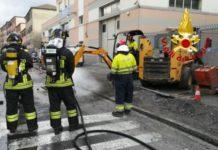 Fuga di gas vigili del fuoco