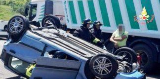 incidente SS 106 VAR Catanzaro svincolo per Borgia