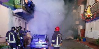 incendio autovettura Botricello