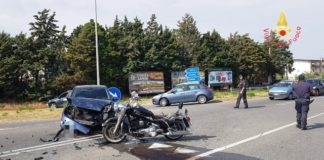 scontro auto moto a Sellia Marina