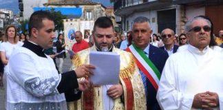 arrivo della statua di san Michele da Varapodio a Monte Sant'Angelo