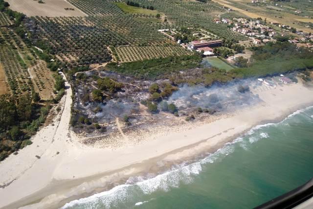 foto effettuata da elicottero della Regione Calabria