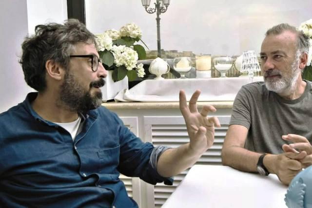 Dario Brunori e Franco Arminio foto di Vittorio Arcieri-min