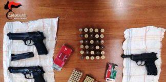 Reggio Calabria, Natile Nuovo rinvenute 3 pistole con matricola punzonata, con relativo munizionamento,-min