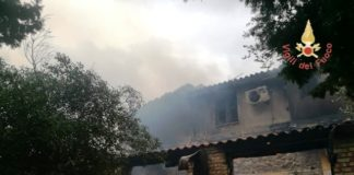 Agriturismo Guardavalle, incendio