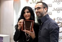 Pamela Prati ospite della gioielleria Megna