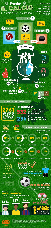 Calcio sport popolare infografica