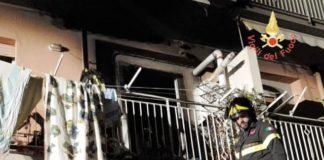 appartamento in fiamme a Lamezia