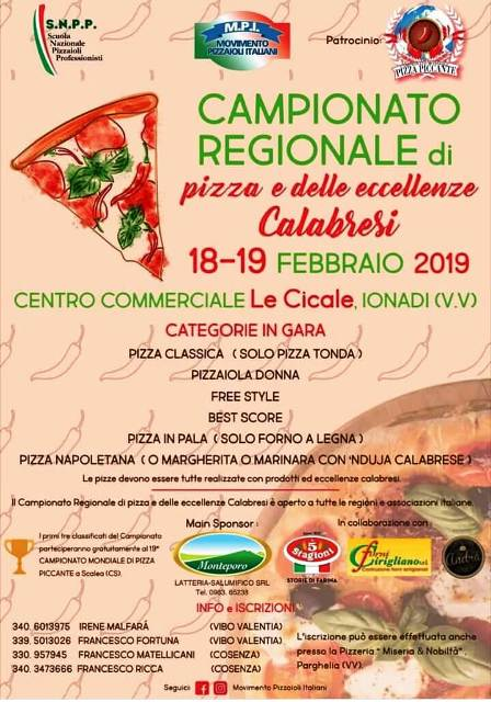 Campionato regionale pizza e delle eccellenze calabresi-