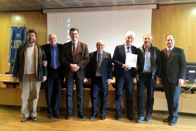 Da sinistra i proff. Palopoli Pagnotta e Mendicino gli ingg. Cuffaro e Furriolo i proff. Greco e Gaudio