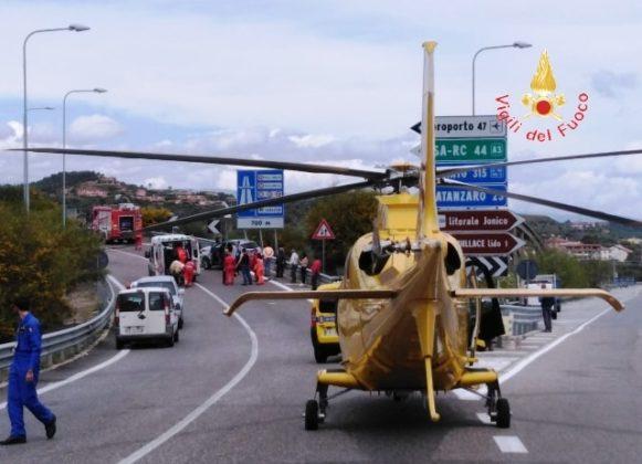 Elisoccorso incidente SS 106-