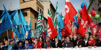 manifestazione sindacati