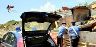 Carabinieri Lamezia campo rom
