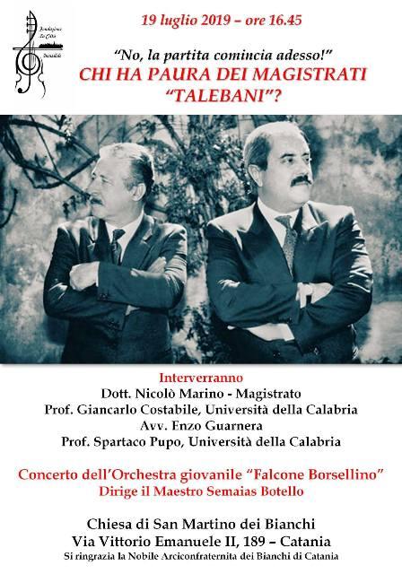 Locandina Catania per Borsellino