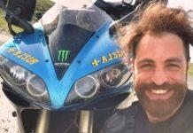 Manuel Cesta con la sua moto