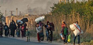 Siria, popolazione in fuga dopo gli attacchi