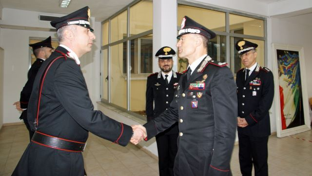 Visita del C.te della Legione CC Calabria al Comando Provinciale Carabinieri Crotone