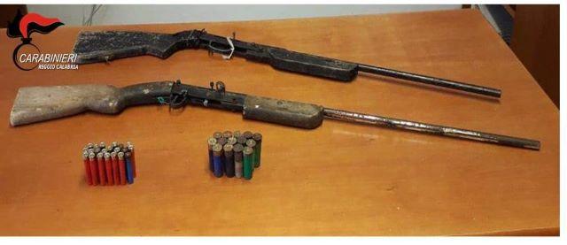 sequestro armi reggio platì carabinieri reggio calabria
