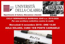 6 novembre Unical Seminario Sistema 'ndrangheta