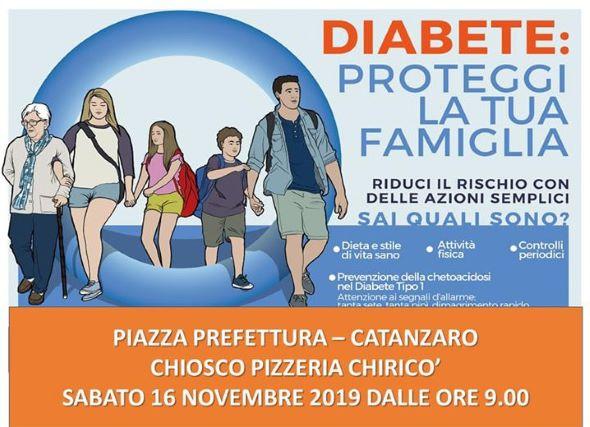 Diabete Test gratuiti Piazza Prefettura Catanzaro 16 novembre-min