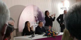 Berlusconi per Jole Santelli conferenza stampa Lamezia Terme-min