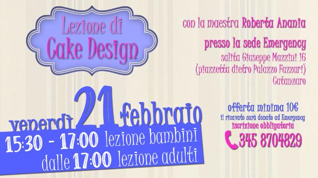 cake design 21 febbraio per Emergency