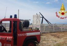 Vigili del Fuoco Incendio stabilimento balneare Sellia Marina