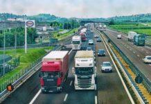 Autostrada, camion, viaggio