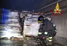 Incendio automezzo Bisignano (CS)