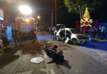 incidente stradale vigili del fuoco