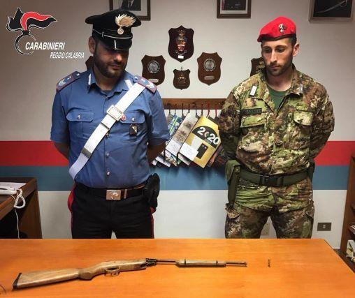 sequestro armi Carabinieri Reggio Calabria