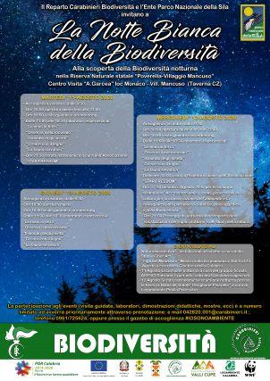 Notte bianca biodiversità 2020 Locandina