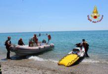 Soccorsi in mare dal presidio acquatico Vigili del Fuoco Catanzaro