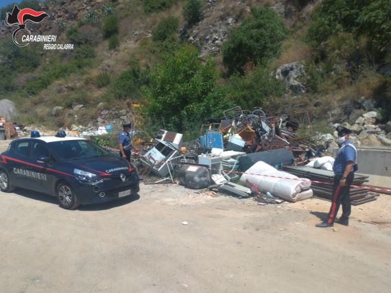Bagnara Calabra, sequestro discarica, Carabinieri Reggio Calabria