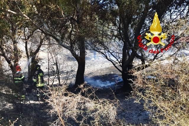 incendio in località Calabricata