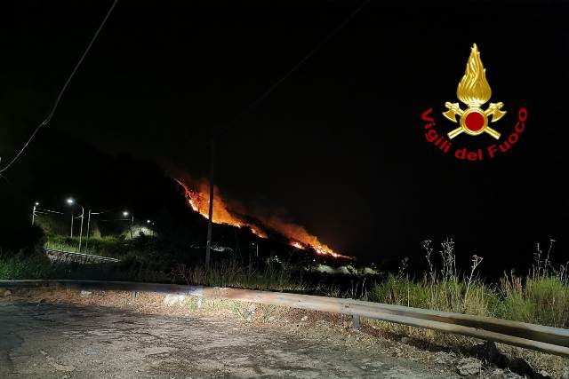 incendio località Gagliano