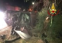 incidente stradale Vigili del Fuoco (San Sostene)