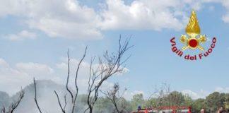 velivolo precipita a Cassano nello Jonio (CS), vigili del fuoco