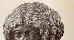 """""""L'ospite illustre"""", busto in basalto da Vibo Marina"""