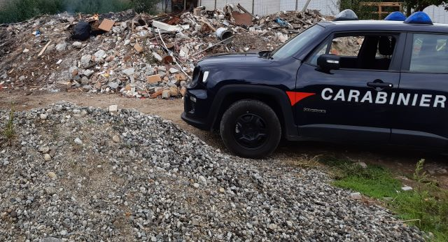 Carabinieri Reggio Calabria, discarica abusiva