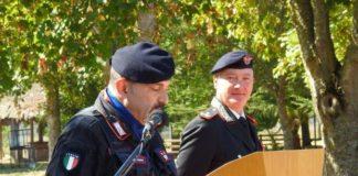 """cerimonia di avvicendamento al vertice del 14° Battaglione Carabinieri """"Calabria"""" tra il Tenente Colonnello Milko Verticchio ed il Tenente Colonnello Samuele Sighinolfi"""