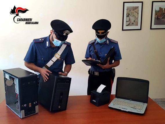 Bianco Scoperto centro scommesse clandestino, Carabinieri Reggio Calabria