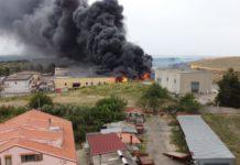 incendio capannone Squillace