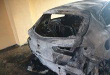 Incendio auto, foto pagin facebook attivista Enzo Infantino