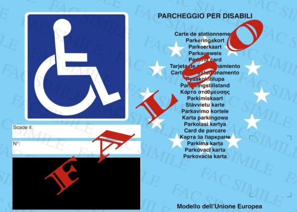 Lamezia Terme pass per disabili falso