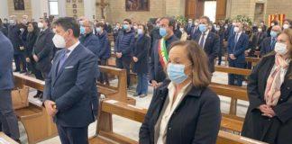 Funerale Santelli, Ultimo saluto Santelli, Conte,-Lamorgese