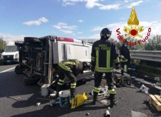 incidente, a2 autostrada del Mediterraneo